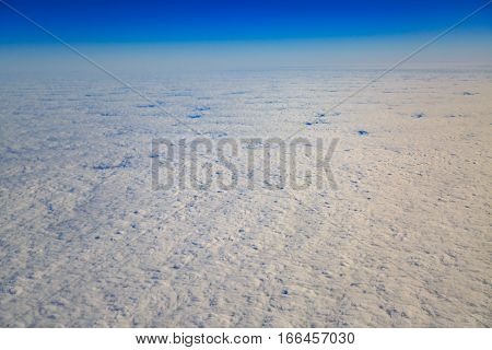Atmospheric cloudscape from high angle view of sky.