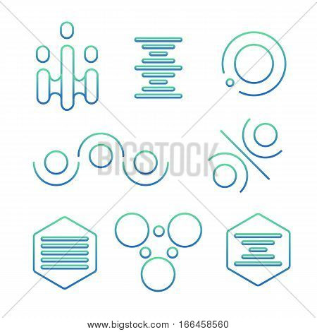 Simple Science Logo Set
