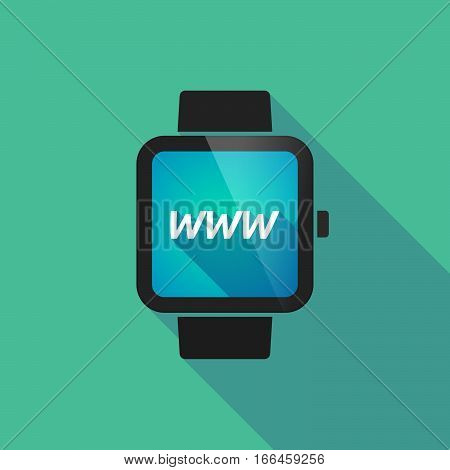 Long Shadow Smart Watch With    The Text Www
