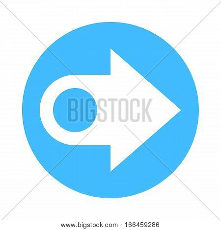 Arrow Sign Direction Icon Circle Button Flat Style