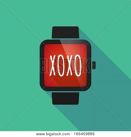 Long Shadow Smart Watch With    The Text Xoxo