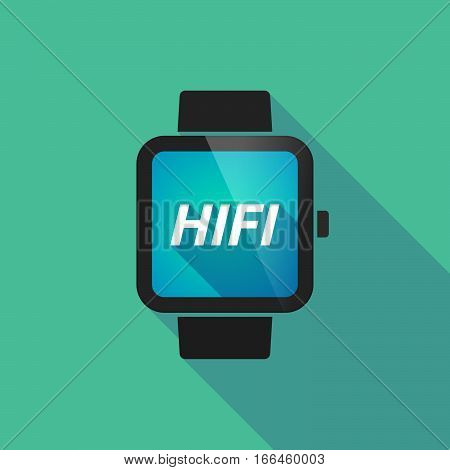 Long Shadow Smart Watch With    The Text Hifi