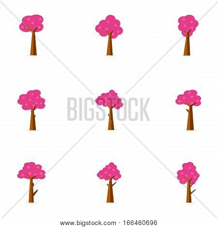 Tree set of collection stock vector art