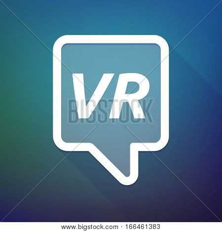 Long Shadow Tooltip With    The Virtual Reality Acronym Vr