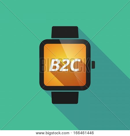 Long Shadow Smart Watch With    The Text B2C