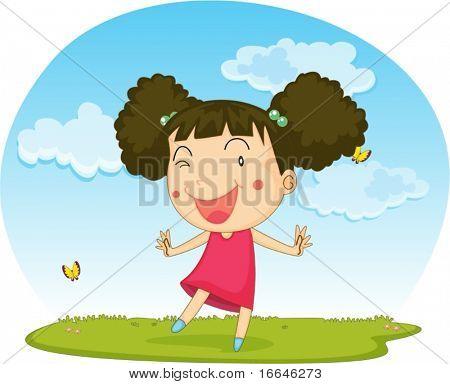Illustration of A Girl on white background