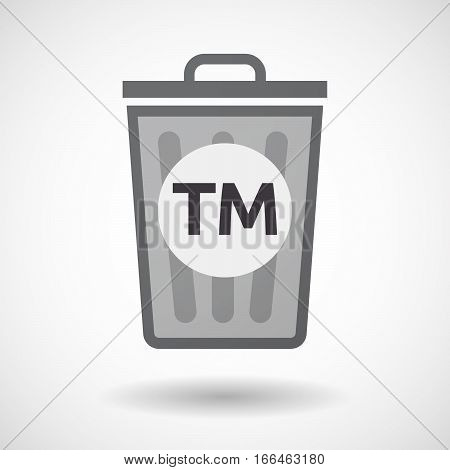 Isolated Trashcan With    The Text Tm