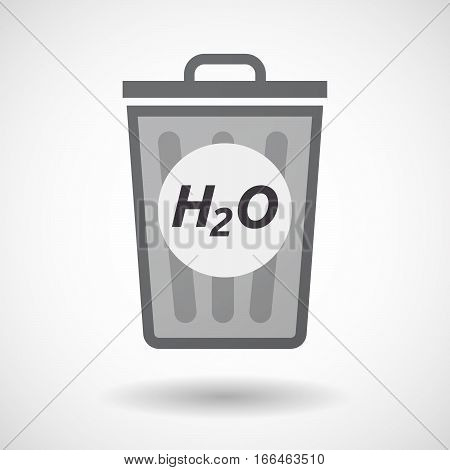 Isolated Trashcan With    The Text H2O