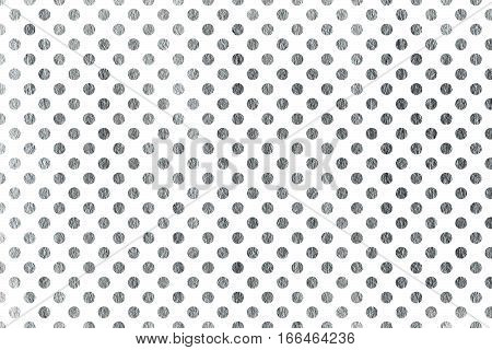 Silver Polka Dot Background.
