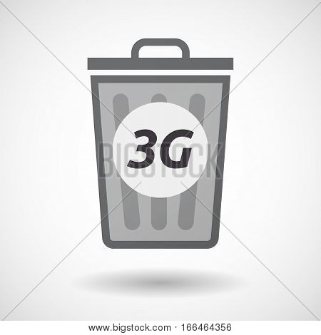 Isolated Trashcan With    The Text 3G