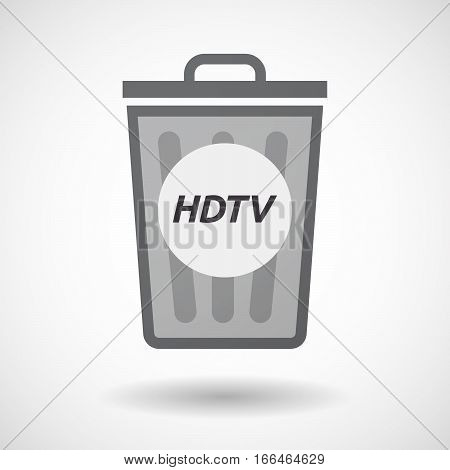 Isolated Trashcan With    The Text Hdtv