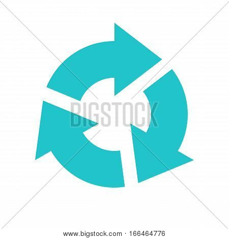 Arrow Sign Rotation Icon Reload Button Refresh Symbol Flat Style