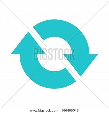 Arrow sign direction icon navigation button reload refresh rotation loop repetition reset pictogram. Vector illustration a graphic element for design.