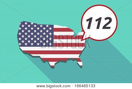Long Shadow Usa Map With    The Text 112