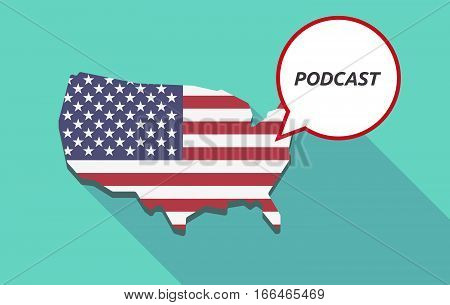 Long Shadow Usa Map With    The Text Podcast