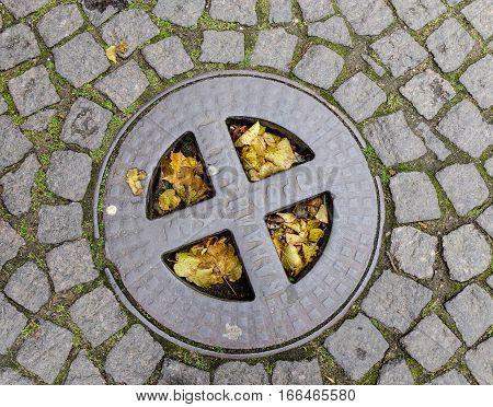 Manhole Cover In Saint Petersburg, Russia