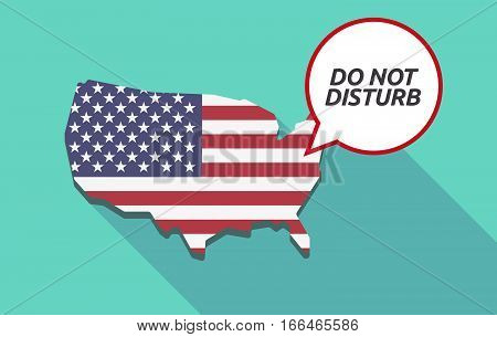 Long Shadow Usa Map With    The Text Do Not Disturb