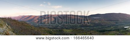 Panoramic view of the famous Valley of the Jerte Cáceres Spain