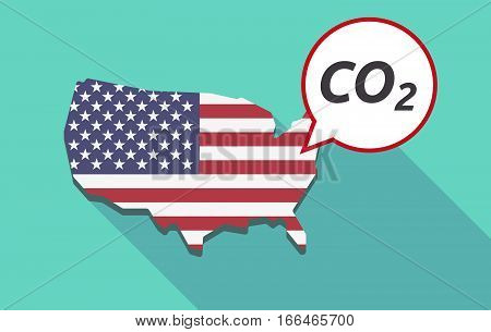 Long Shadow Usa Map With    The Text Co2