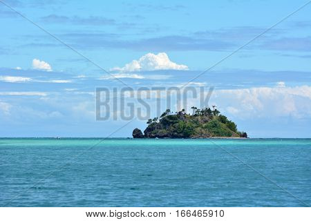 Seascape Of A Tropical Remote Island In The Yasawa Islands Group, Fiji