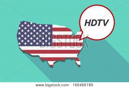 Long Shadow Usa Map With    The Text Hdtv