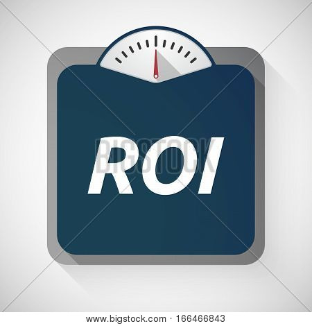 Isolated Weight Scale With    The Return Of Investment Acronym Roi