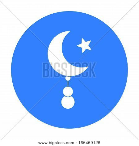 Crescent and Star icon in black style isolated on white background. Religion symbol vector illustration. - stock vector