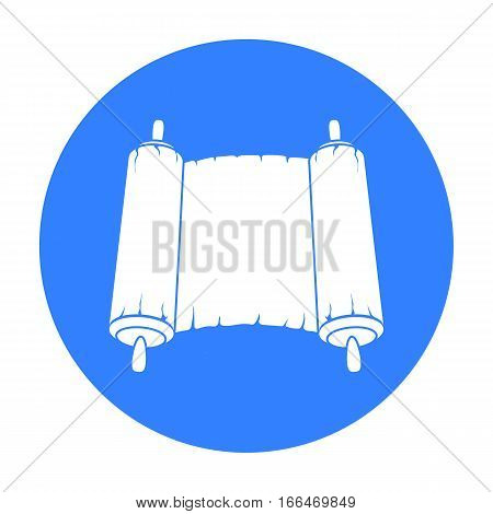 Tanakh icon in blue style isolated on white background. Religion symbol vector illustration. - stock vector