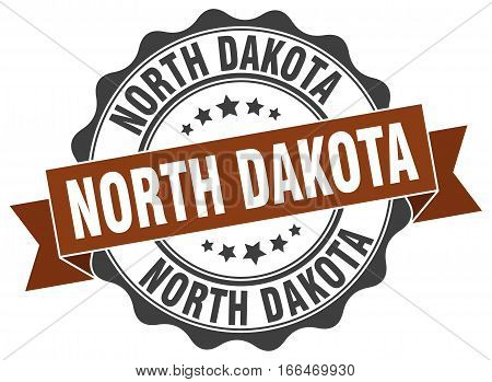 North Dakota. round isolated grunge vintage retro stamp