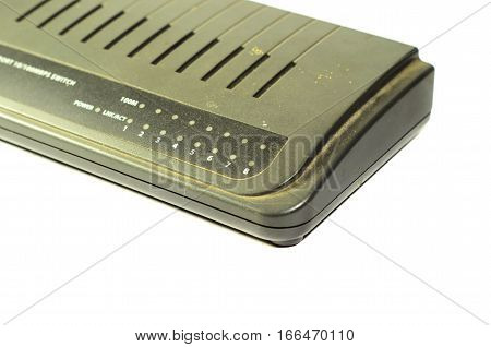 Ethernet switch hub isolated on a white background