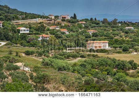 Panorama to Ratzakli village, Kefalonia, Ionian islands, Greece