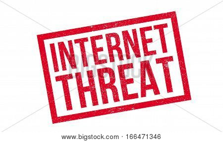 Internet Threat rubber stamp. Grunge design with dust scratches. Effects can be easily removed for a clean, crisp look. Color is easily changed.
