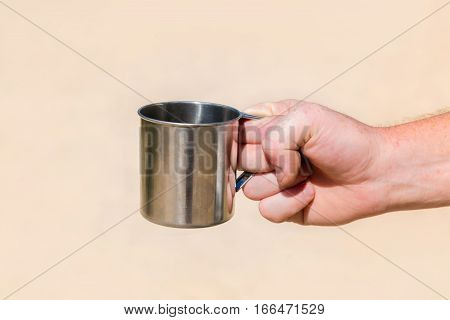 Iron Mug In Hand