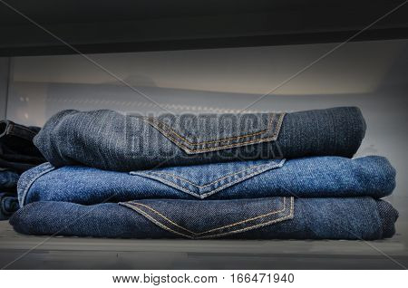 Jeans are designed to be more colorful to wear.