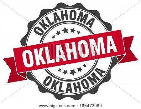 Oklahoma. round isolated grunge vintage retro stamp