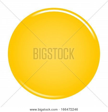 Yellow Circle Button Blank Web Internet Icon