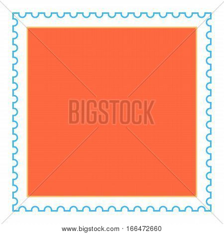 Empty Square Postage Stamp