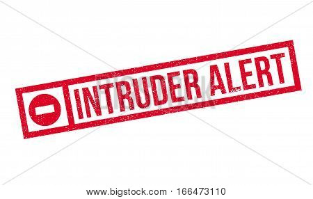 Intruder Alert rubber stamp. Grunge design with dust scratches. Effects can be easily removed for a clean, crisp look. Color is easily changed.