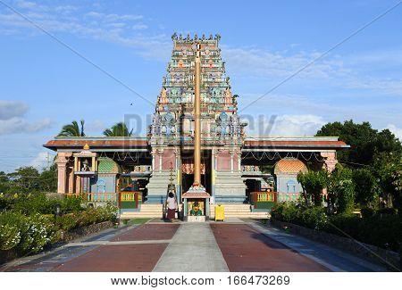 The Sri Siva Subramaniya Hindu temple in Nadi, Fiji.It is the largest Hindu temple in the Southern hemisphere.