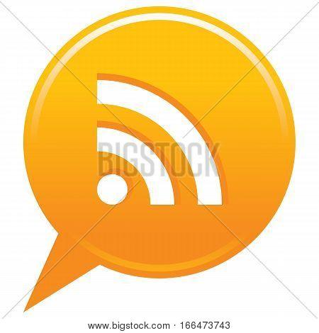 Orange Map Pin Rss Icon