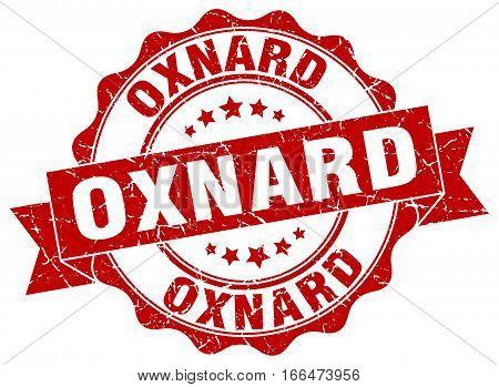 Oxnard. round isolated grunge vintage retro stamp