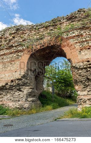 The Western gate of Diocletianopolis Roman city wall, town of Hisarya, Plovdiv Region, Bulgaria