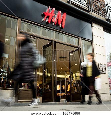 H&m Store, Oxford Street, London
