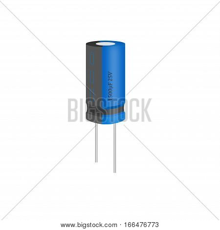 Electronic component capacitor on a white background