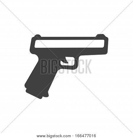 Gun sign icon. Firearms weapon symbol. Classic flat icon. Vector illustration.