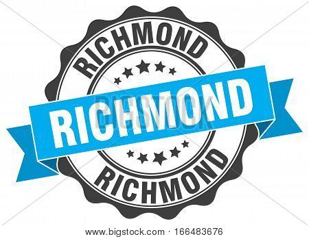 Richmond. round isolated grunge vintage retro stamp