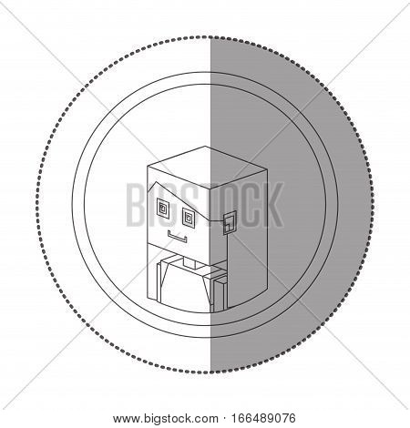 silhouette sticker lego with portrait female person vector illustration poster