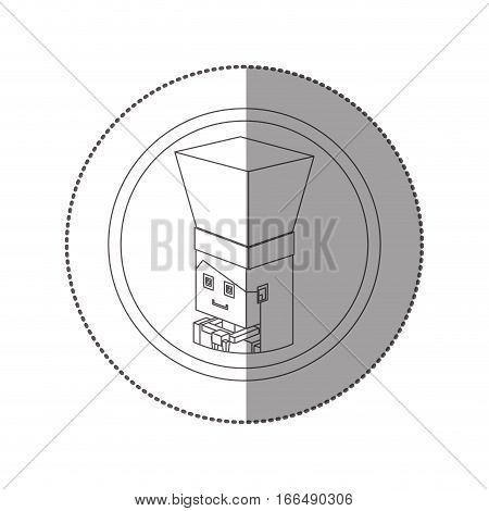 silhouette sticker lego with portrait female chef shading vector illustration poster