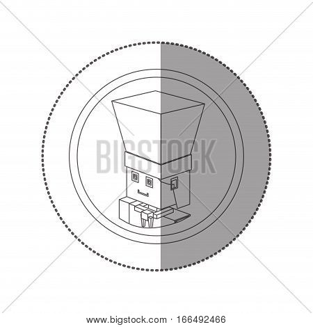 silhouette sticker lego with portrait male chef shading . Vector illustration poster
