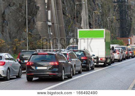 Transport Jam Transport Jam On City Roads Stokholm